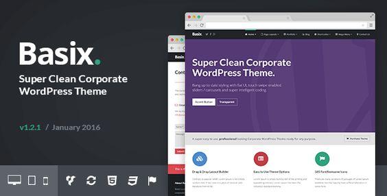 Download  Basix v1.2.0  Corporate WordPress Theme
