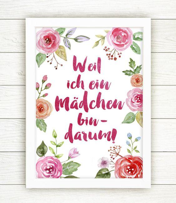 Originaldruck als Geschenk für Sie, Wohndeko / art print, gift for her, home decor made by Drawing Birdy via DaWanda.com