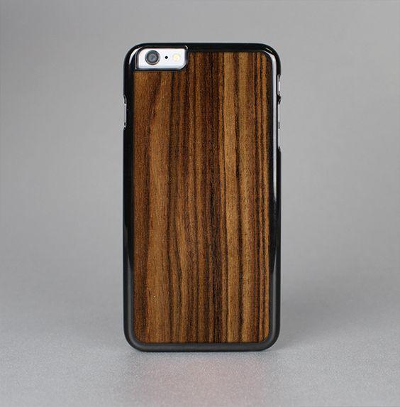 The Bright Ebony Woodgrain Skin-Sert for the Apple iPhone 6 Skin-Sert Case