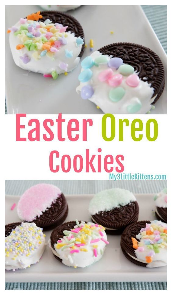 Easter Oreo Cookies - My 3 Little Kittens