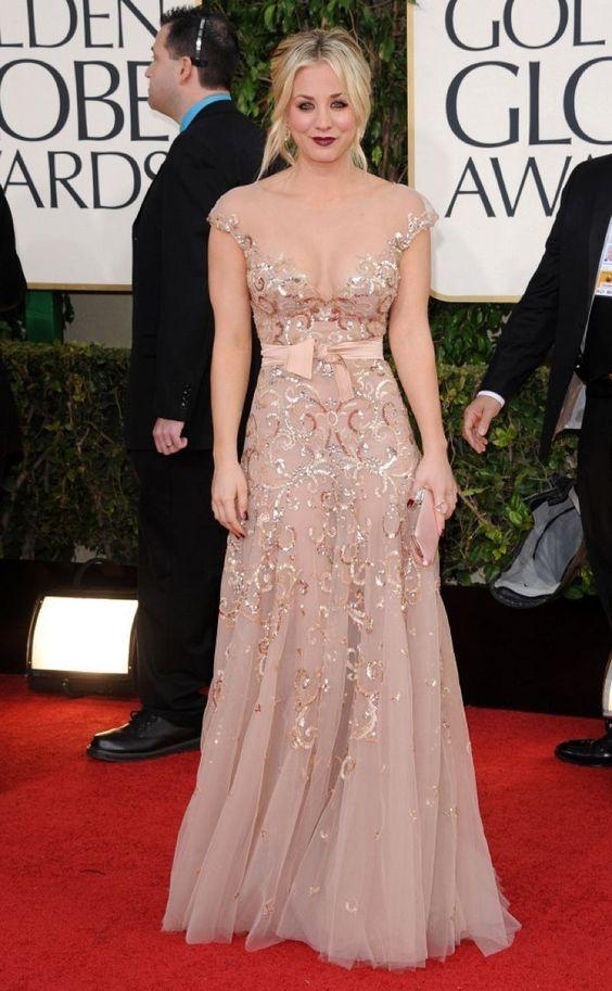 Floor length nude style dress. Elegant red carpet look ...