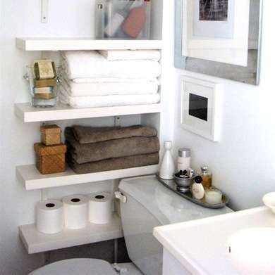 Toilets creative and nooks on pinterest for Extra small bathroom ideas