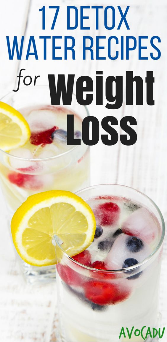 17 Detox Water Recipes for Weight Loss | Detox waters ...