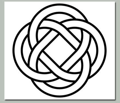 celtic eternity knot for big wall art piece