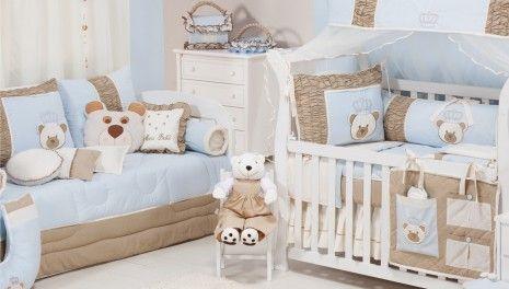 Enxoval bebê completo urso príncipe realeza