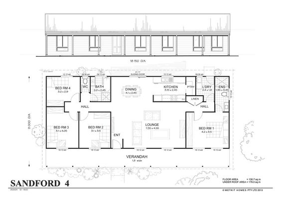 Simple 4 Bedroom Floor Plans Sanford 4 Met Kit Homes