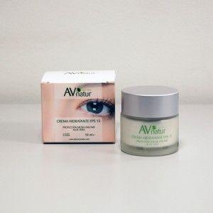 Crema Hidratante Facial Aloe Vera en envase de 50 mls.