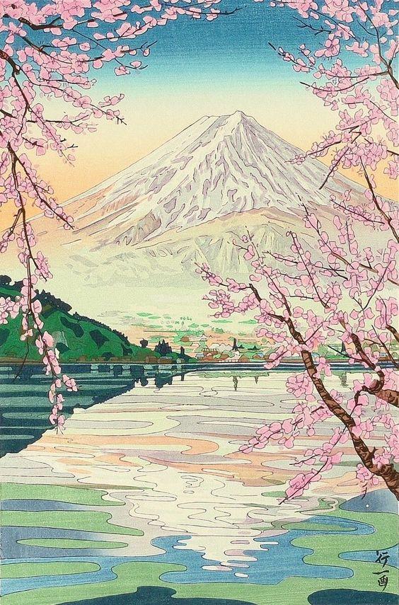 Mt. Fuji and Lake Kawaguchi Okada Koichi