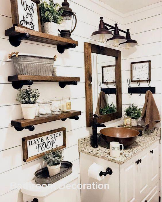 Bathroom Decoration Ideas In 2020 Bathroom Decor Rustic