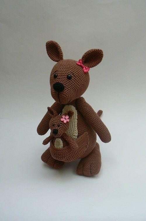 Navod na ha?kovane klokanky - Crochet kangaroo - (Pattern ...