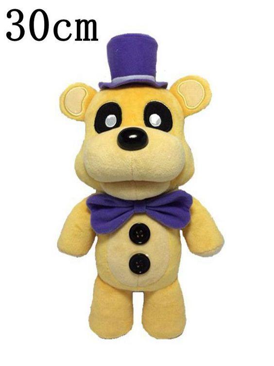 Soft and Beautiful New Yellow Freddy Bear Stuffed Animal Plush Toy Doll 1pcs