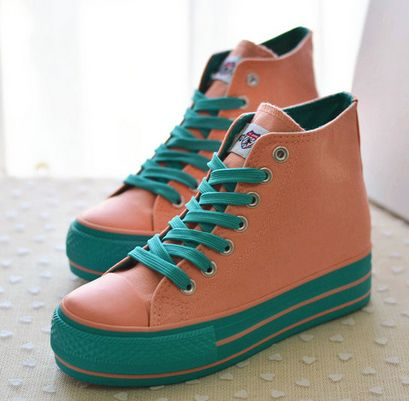 Find More   Information about 2014 new spring and Autumn elevator 6 high top shoes female canvas shoes casual women's shoes  lady's flat sneakers 6,High Quality  ,China   Suppliers, Cheap   from ATT store on Aliexpress.com