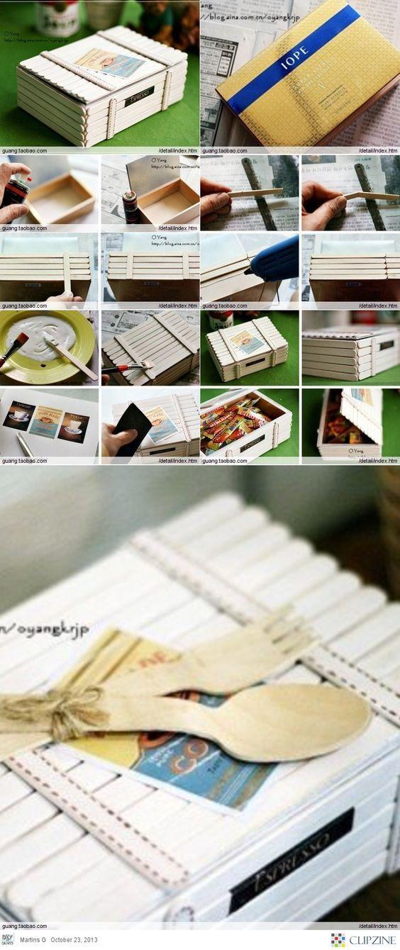 How to reuse ice cream sticks diy reuse ideas for Designs using ice cream sticks