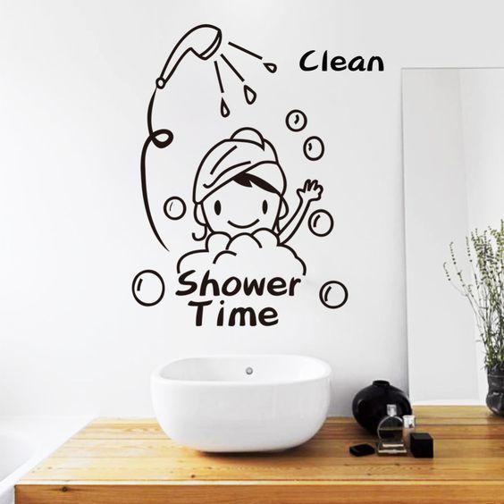 Cheap ba o ducha en la decoraci n de la pared pegatinas - Pegatinas para bano ...