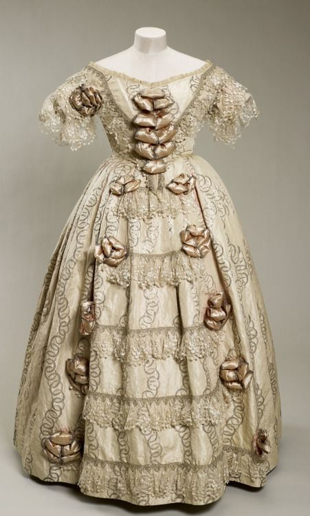 Dress worn by Queen Victoria to the opening of the Great Exhibition, 1851  From the Royal Collection
