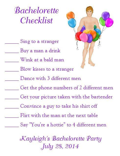 Bachelorette Party Checklist Card (pink leopard print ...