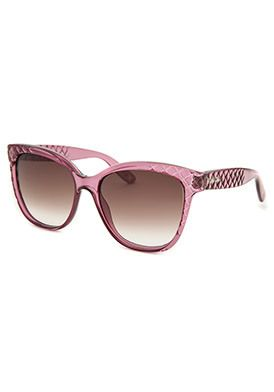 Bottega Veneta Women's Square Translucent Purple Sunglasses