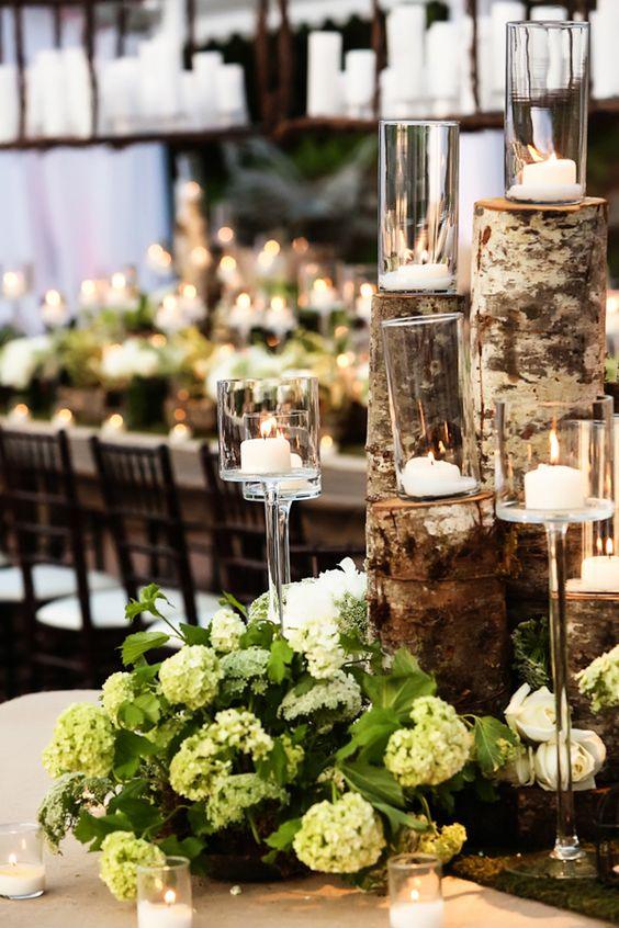 Charming Candles that Make for Romantic Centerpieces. To see more wedding ideas: www.modwedding.com: