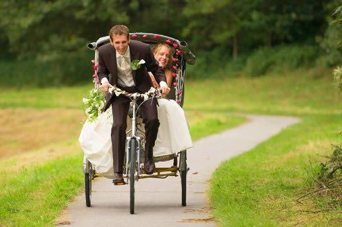 Bijzonder trouwvervoer - riksja