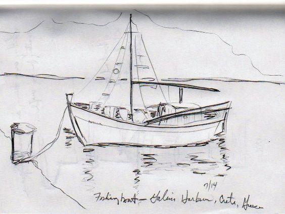 Fishing Boat - Crete (Fabriano)