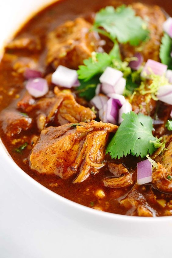 Slow Cooker New Mexican Red Pork Chili | Recipe | Slow cooker potatoes ...