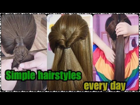 Simple Hairstyles For Everyday Beautiful Hairstyles For Ladies Youtube Di 2020