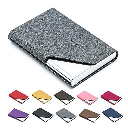 Business Name Card Holder Luxury Pu Leather Stainless Steel Multi Card Case Business Name Card Ho Cleaning Business Cards Name Card Holder Card Holder Wallet