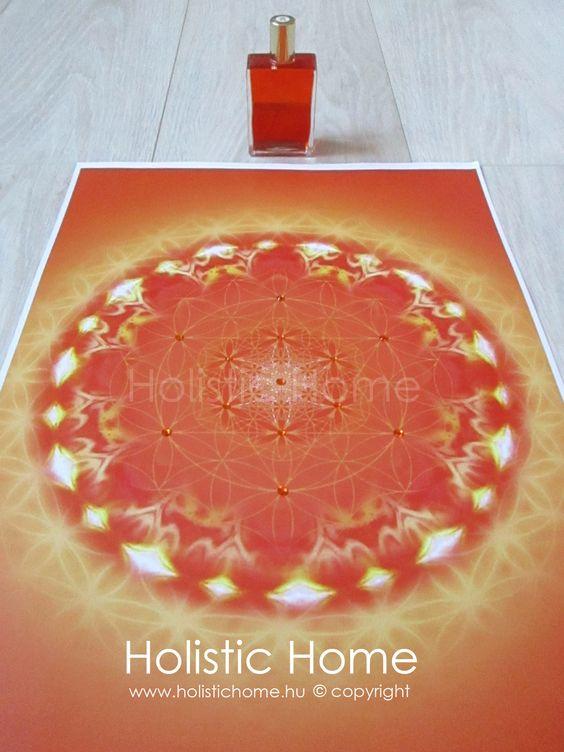 Aura-Soma B26 Narancs/Narancs üveghez készített személyes Lélekmandala https://www.facebook.com/Holistic.Home.Hungary/