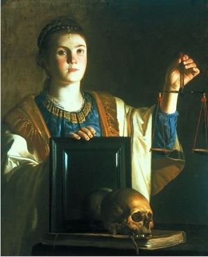 """""""An Allegory of Justice and Vanity,"""" by Nicolas Tournier, Ashmolean Museum, Oxford."""