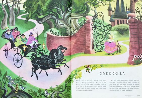 1960s Disney Cinderella illustration