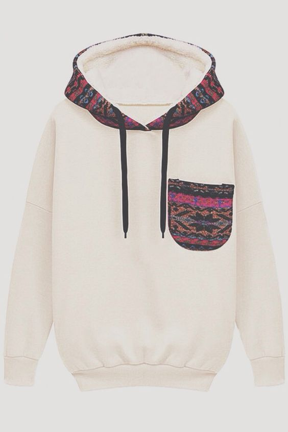 This is an example of foreground because if you take the pocket off its still a hoodie.