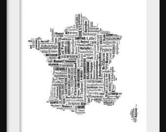 typography french maps - Google Search
