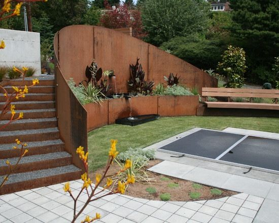 79 Ideen für Stützmauer im Garten bauen u2013 Hangsicherung und - sitzecke im garten mit steinmauer