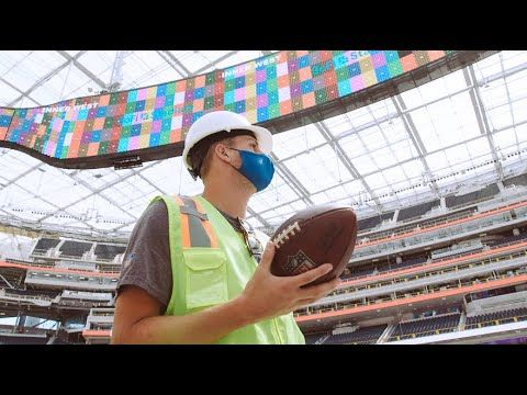 This Is Amazing Jared Goff Is Awestruck By Sofi Stadium Los Angeles Rams Youtube In 2020 Los Angeles Rams Jared Goff La Rams