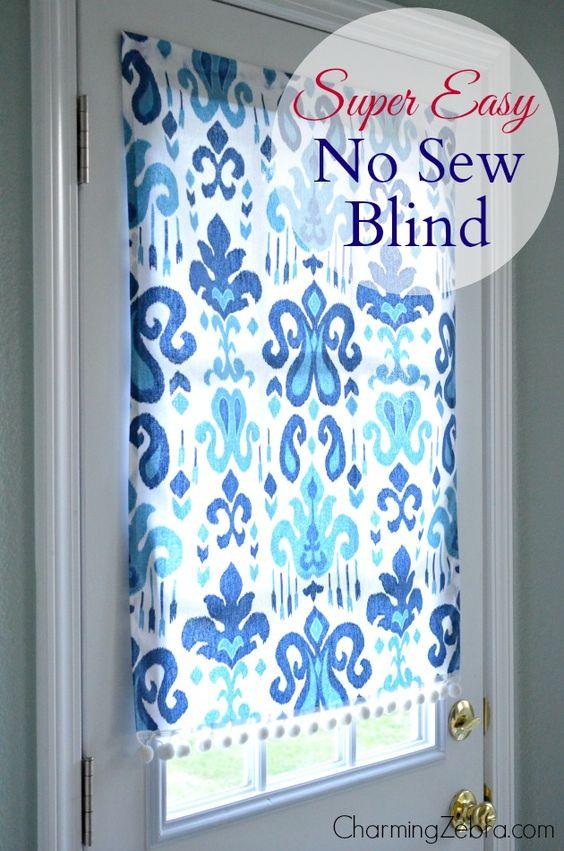 No-Sew Magnetic Blind Tutorial   Charming Zebra on Remodelaholic.com #AllThingsWindows #no-sew