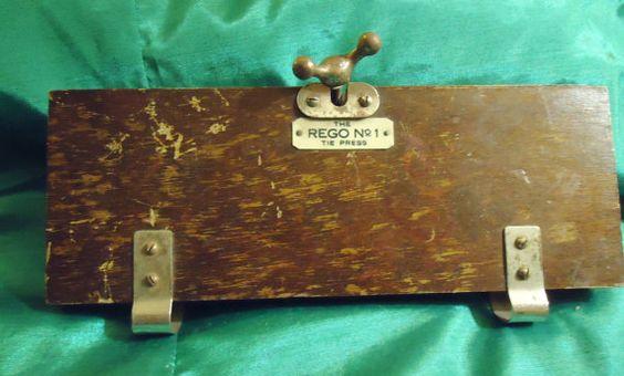 English Oak Tie Press by Rego by PheasantRunAntiques on Etsy, $20.00