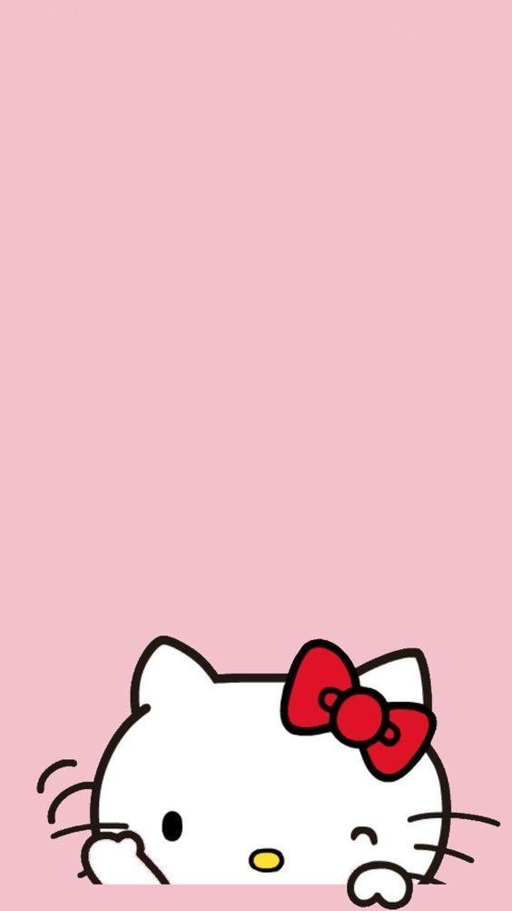Wallpaper Hello Kitty Merah