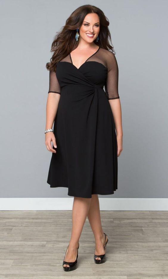 Черное платье для полных