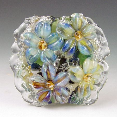 Leopard Garden   1 boro/ borosilicate glass bead by redsidedesigns, $30.00
