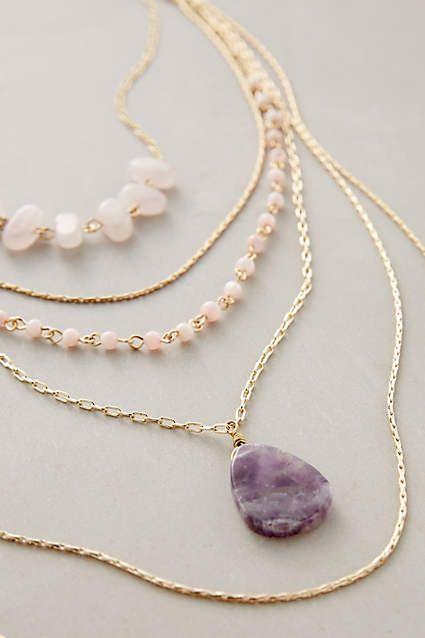 Love to layer jewelry!!! Violett Layer Necklace #AnthroFave: