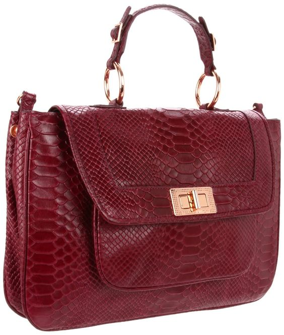 Rebecca Minkoff — Covet Shoulder Bag in Plum Snake