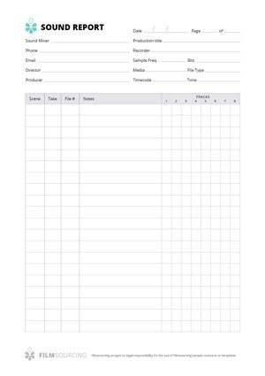 Sound Report Ensure that your soundie is equipped to give you all - basic report template