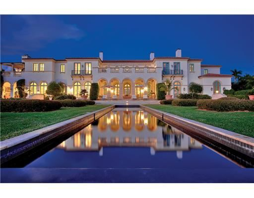 Classic Mediterranean Estate, designed by acclaimed Palm Beach Architect, Jeffrey W. Smith, in collaboration w/ Interior Designer, Mario Buatta.  Indian Creek Village, FL