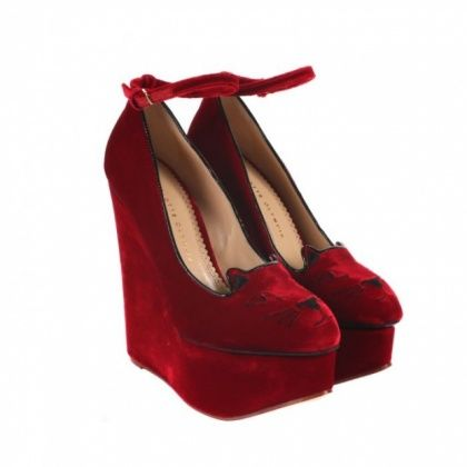 Charlotte Olympia platform version of the DIY shoe i pinned.  MEOW.