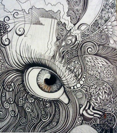 Examples of Zentangle Project | Eyes, Lion and Projects