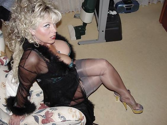 Trashy Mature Pantyhose Mature Stockings 46