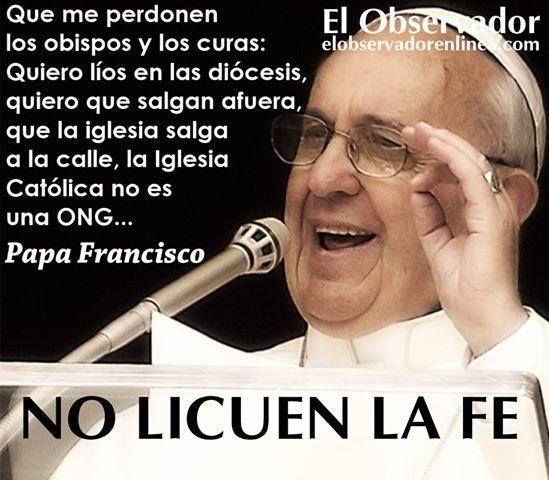 mensajes de animo del papa francisco - Buscar con Google