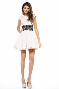Cute black and white lace dresses for juniors | Casual party ...