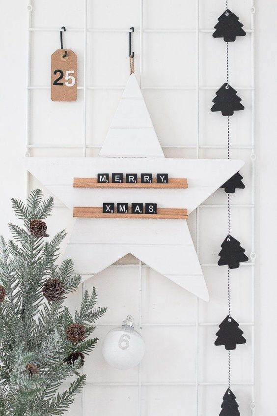 15 Do It Yourself Christmas crafts and decorations for the holiday season. Easy to make Christmas trees, cone  Christmas tree, DIY ornaments, DIY Christmas wreaths, Nordic and Scandinavian decor with Christmas garlands. Image from  The Beauty Dojo