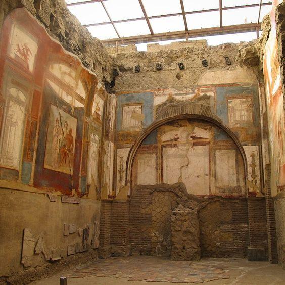 Templo em Herculano Itália